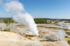 Norris Geyser Basin Vapor Trails, Yellowstone, USA royalty free stock photos