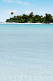 Landscape of of Motukitiu Island in Aitutaki Lagoon Cook Islands Royalty Free Stock Photos