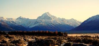 Landscape of Mount Cook, Aoraki, New Zealand Royalty Free Stock Image