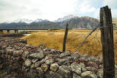 Landscape of Mount Cook track Royalty Free Stock Images