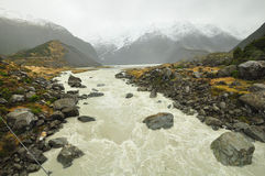 Landscape of Mount Cook track Royalty Free Stock Image