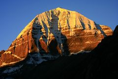 Landscape of Mount Kailash. Mount Kailash & x28;also Mount Kailas; Kangrinboqê or Gang Rinpoche & x29; is a peak in the Kailash Range & x28;Gangdisê Mountains Stock Image