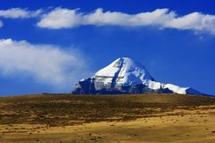 Landscape of Mount Kailash royalty free stock photos