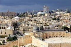 Landscape from Mount Olives Stock Image