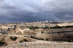 Landscape from Mount Olives Stock Photo