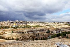 Landscape from Mount Olives Stock Photos