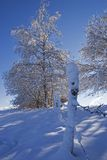 Landscape of mountain;. Landscape of mountain snow-covered Royalty Free Stock Image