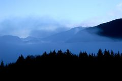 Landscape of mountain. In the brown Royalty Free Stock Photography