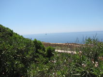 Landscape from the mountain above the blue grotto Stock Image