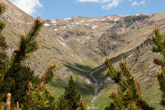 Landscape mountain in Andorra Royalty Free Stock Images