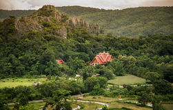 Landscape mountain Asia. Landscape mountain and Thailand Temple Asia Royalty Free Stock Photo