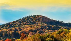 Landscape with a mountain in autumn colors Royalty Free Stock Image