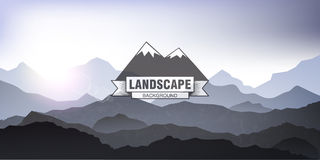 Landscape mountain background eps 10 Royalty Free Stock Photography