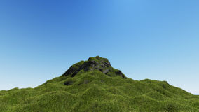 Landscape mountain on blue sky 3D rendering.  Royalty Free Stock Photography