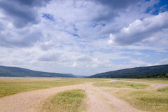 Landscape of mountain cloud dry field in Thailand Royalty Free Stock Image