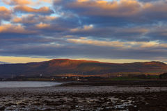Landscape of mountain at Cromarty Firth during Sunset in Invergordon Royalty Free Stock Photo