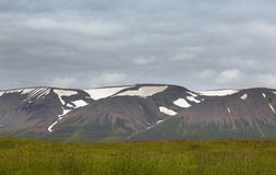Landscape with mountain, ground and sky. North Iceland. Stock Photography