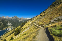Landscape during mountain hiking at Pyrenean mountain, Saint Lar Royalty Free Stock Photos