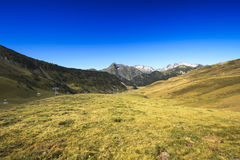 Landscape during mountain hiking at Pyrenean mountain, Saint Lar Stock Photos