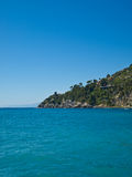 Landscape. Mountain in the italian sea. Beautiful sea landscape with rocks and blue sky Royalty Free Stock Photography