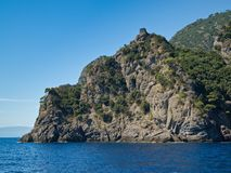 Landscape. Mountain in the italian sea Royalty Free Stock Photos