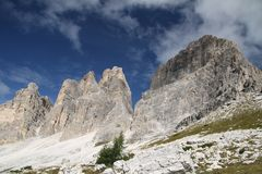 Landscape with a mountain, Italy Royalty Free Stock Photos