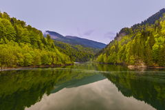 Landscape with a mountain lake Stock Photo
