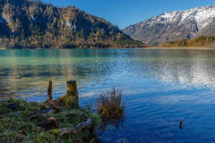 Landscape with the mountain lake Stock Photography