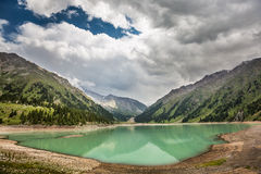 Landscape mountain  lake in Central Asia Royalty Free Stock Photography