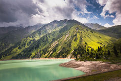 Landscape mountain  lake in Central Asia Stock Image