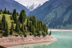 Landscape mountain  lake  Central Asia Almaty Royalty Free Stock Image