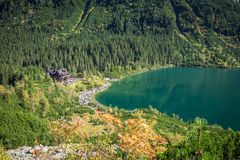Landscape of mountain lake Morskie Oko near Zakopane, Tatra Moun Stock Photography