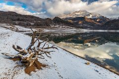 Landscape in Mountain Lake royalty free stock photography