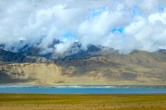 Landscape with mountain lake Tso Moriri Royalty Free Stock Photo
