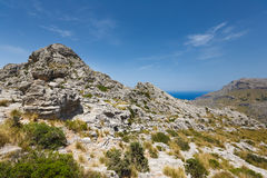 Landscape of mountain in Mallorca Royalty Free Stock Photo