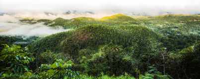 Landscape of mountain with morning sunlight Royalty Free Stock Images