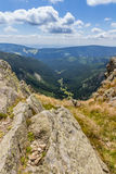 Landscape with mountain and nice clouds in Krkonose in Czech republic Stock Images