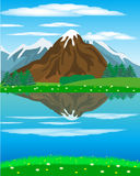 Landscape with mountain oi river Royalty Free Stock Photos