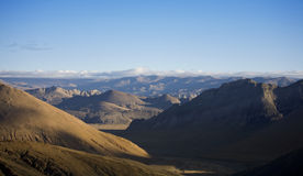 Landscape mountain pass view, tibet. Landscape view from a tibetan mountain pass Royalty Free Stock Images