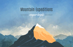 Landscape With Mountain Peak 2 Royalty Free Stock Photography
