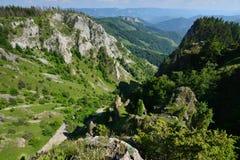 Landscape with mountain peaks from Scarita-Belioara Stock Photo