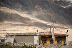 Landscape of mountain and place in leh ladkh, india Royalty Free Stock Photos