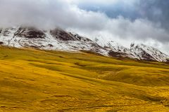 Landscape of mountain on Qinghai Plateau,China. stock photography