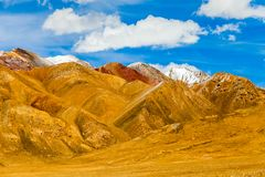Landscape of mountain on Qinghai Plateau,China. stock images