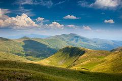 Landscape of Mountain Range in Summer Stock Images