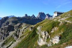 Landscape with mountain refuge Stock Image