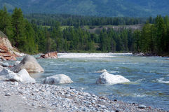 Landscape of  mountain river Royalty Free Stock Photos