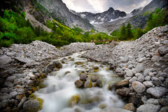 Landscape With A Mountain River Royalty Free Stock Image