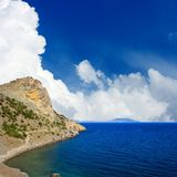 Landscape with mountain and sea Stock Image