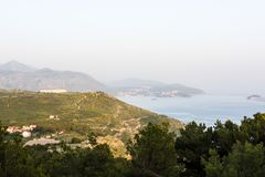 Landscape with mountain and sea royalty free stock photo